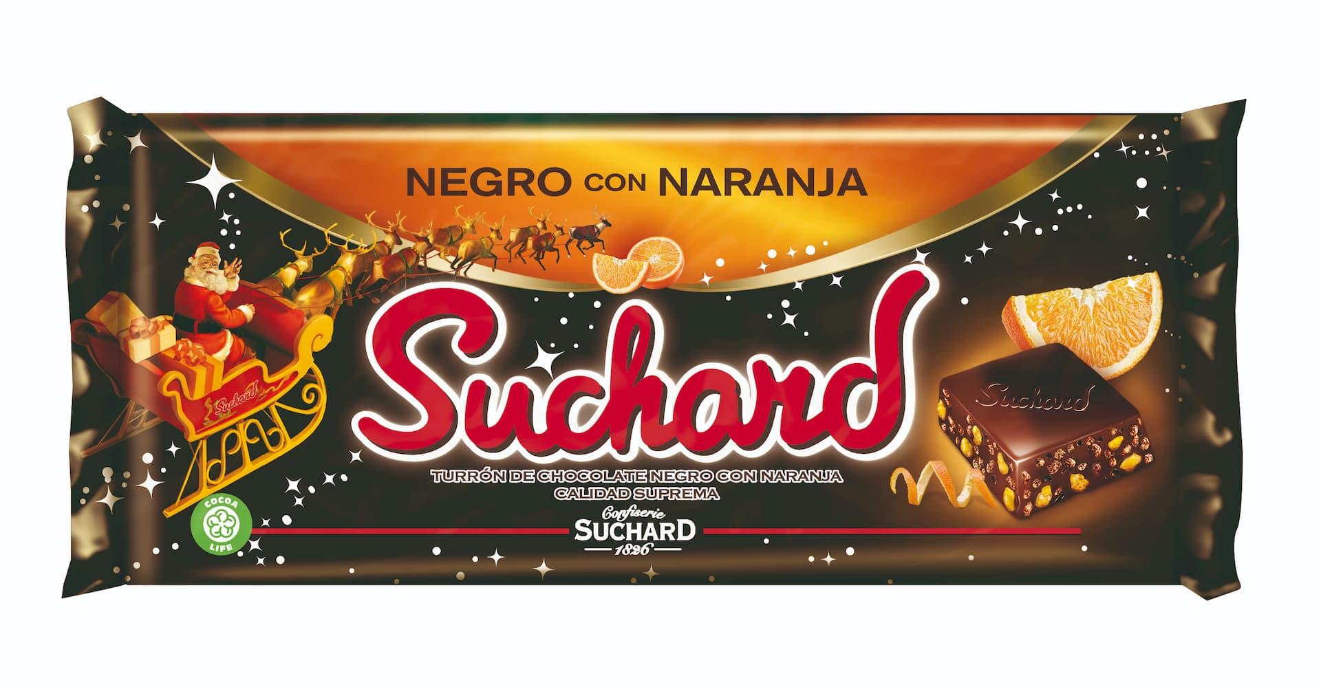 Suchard negro con naranja